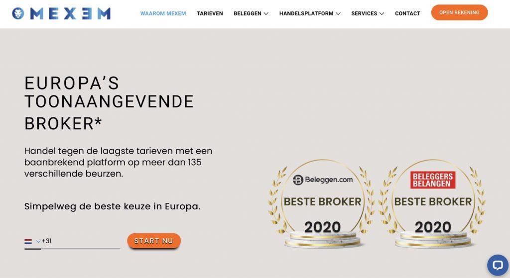 beste brokers vergelijken, Online brokers, Goedkoopste broker, Top 10 brokers Nederland, Mexem
