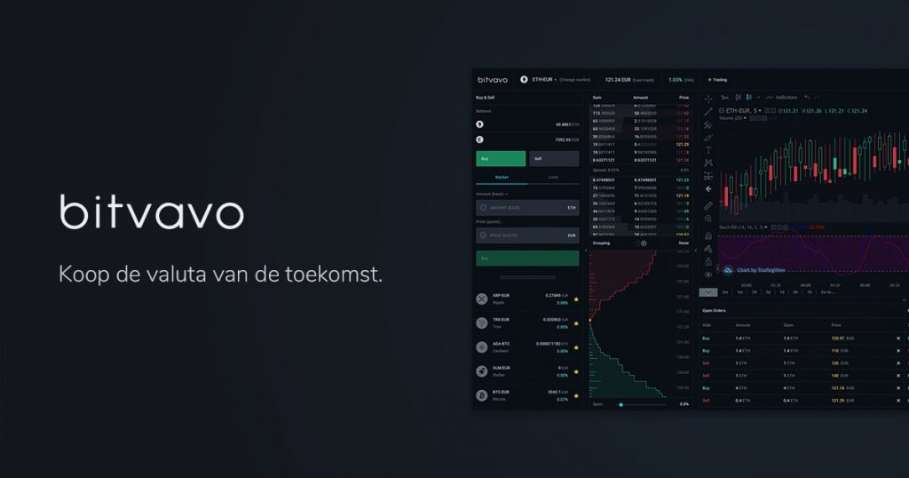 Beste crypto broker vergelijken, Crypto platform, Crypto exchange Bitvavo